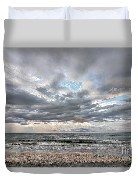 Sanibel Island Seashells Duvet Cover