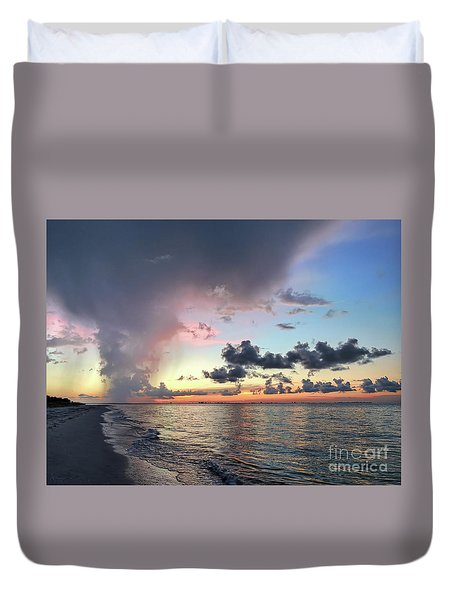 Sanibel Island Sunrise Duvet Cover