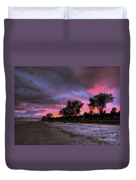 Sanibel Island Twilight Duvet Cover