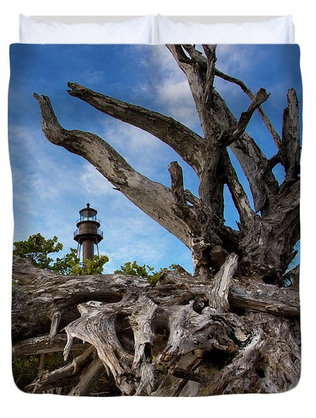 Sanibel Lighthouse Duvet Cover