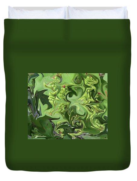 Sanibel Seagrapes Duvet Cover by Melinda Saminski