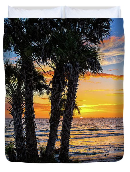 Sanibel Sunset Duvet Cover