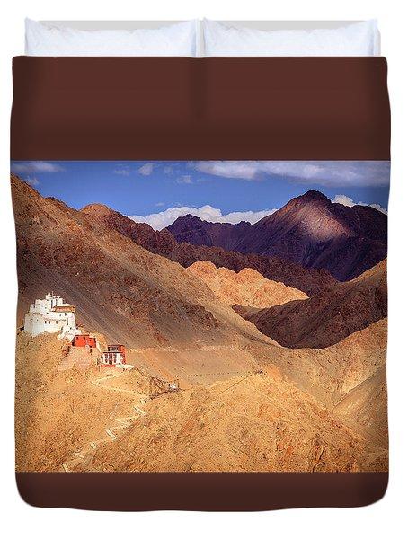 Duvet Cover featuring the photograph Sankar Monastery by Alexey Stiop