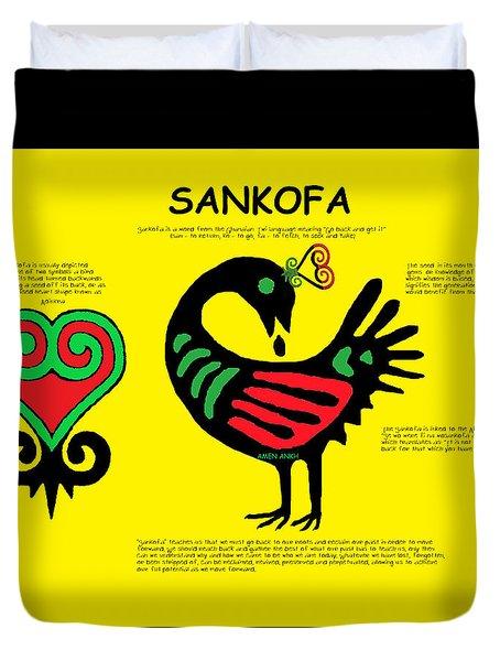 Sankofa Knowledge Duvet Cover