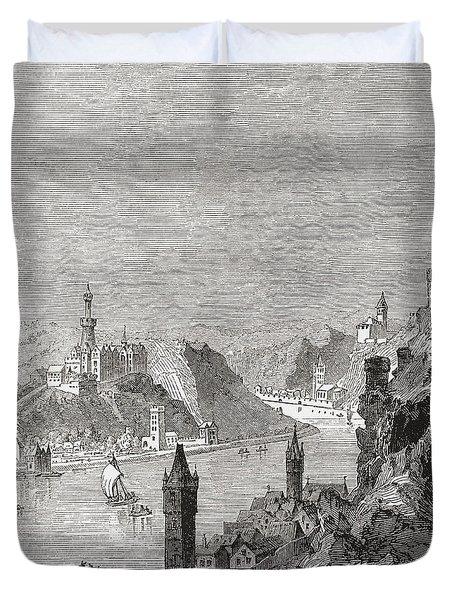 Sankt Goar And The Burg Rheinfels Duvet Cover