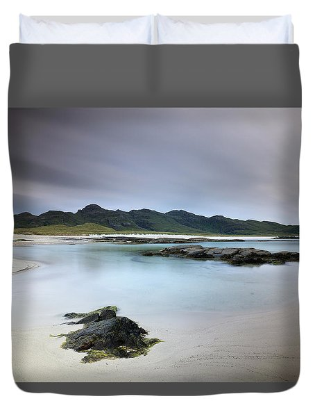 Duvet Cover featuring the photograph Sanna Bay by Grant Glendinning
