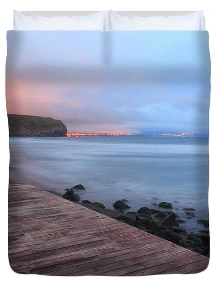 Santa Barbara Beach Duvet Cover by Gaspar Avila