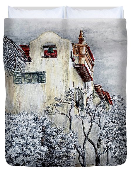 Santa Barbara Courthouse Bell Tower Duvet Cover by Danuta Bennett