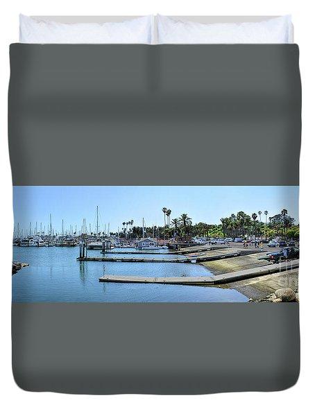 Santa Barbara Marina Duvet Cover