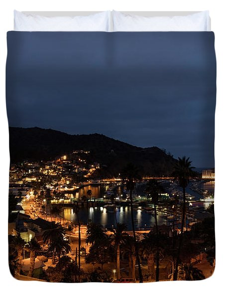 Santa Catalina Island Nightscape Duvet Cover by Angela A Stanton