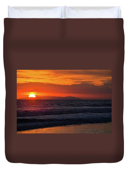 Santa Catalina Island Sunset Duvet Cover