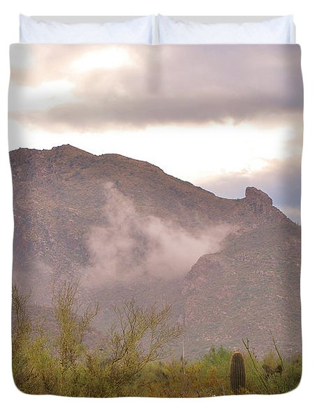 Santa Catalina Mountains II Duvet Cover