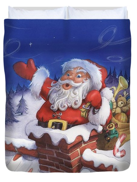 Santa Chimney Duvet Cover
