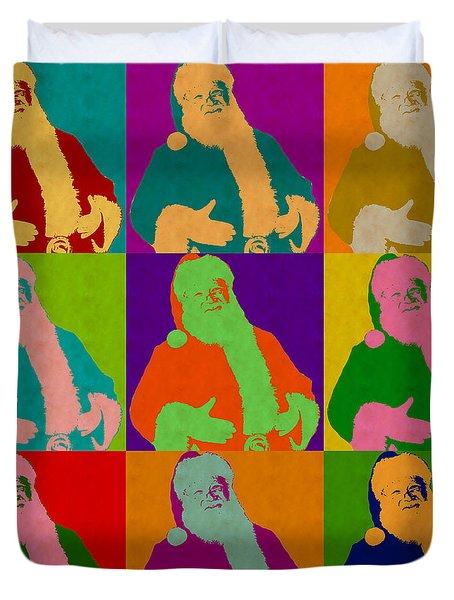 Santa Claus Andy Warhol Style Duvet Cover