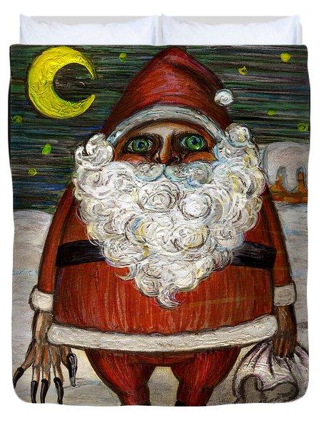 Santa Claus By Akiko Duvet Cover