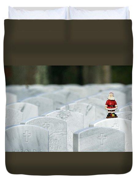 Santa Claus Calverton New York Duvet Cover