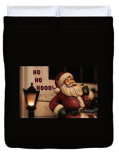 Santa Claus Christmas Card Duvet Cover by Lois Bryan