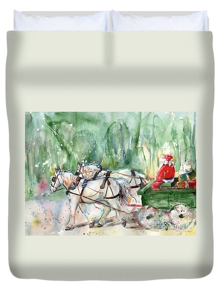 Santa Claus Is Coming To Town Duvet Cover