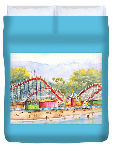 Santa Cruz Beach Boardwalk Duvet Cover