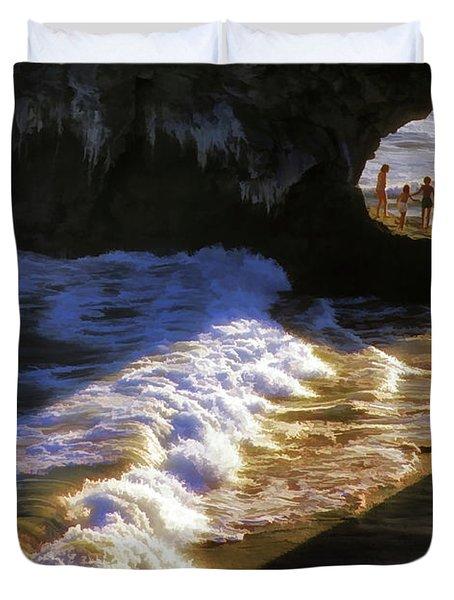 Santa Cruz 'bridge' California Coastline Duvet Cover