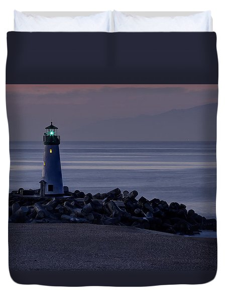 Walton Lighthouse Early Morning Duvet Cover