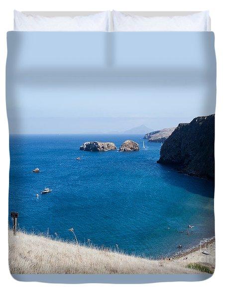 Duvet Cover featuring the photograph Santa Cruz Island, California by Suzanne Luft