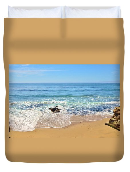 Santa Cruz Private Beach Duvet Cover