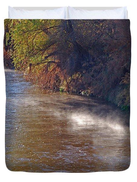 Santa Cruz River - Arizona Duvet Cover by Donna Greene