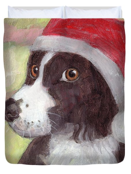 Santa Dog Duvet Cover