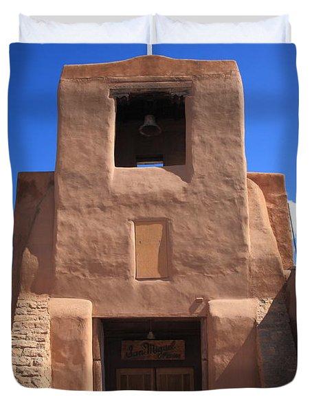 Santa Fe - San Miguel Chapel Duvet Cover by Frank Romeo