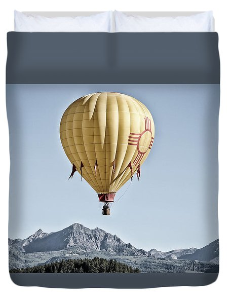 Duvet Cover featuring the photograph Santa Fe Air Force by Kevin Munro