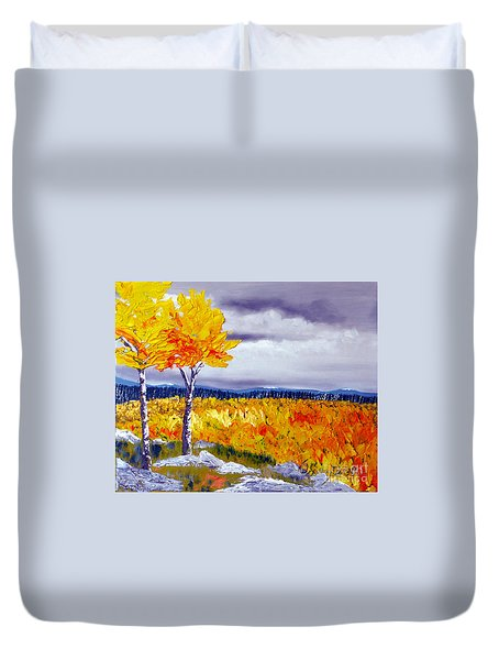 Santa Fe Aspens Series 7 Of 8 Duvet Cover