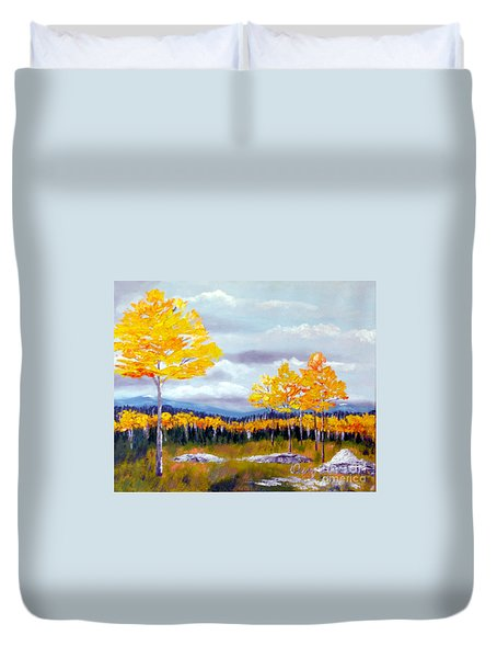 Santa Fe Aspens Series 8 Of 8 Duvet Cover