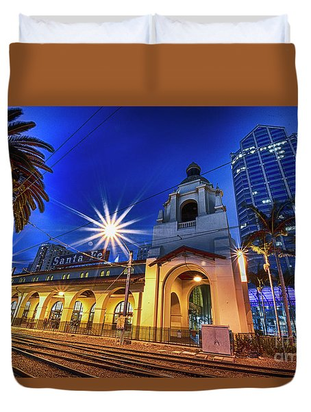 Santa Fe At Night Duvet Cover