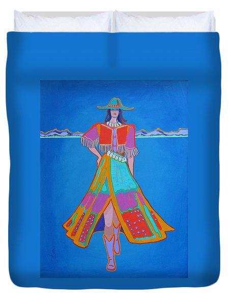 Santa Fe Girl  Duvet Cover