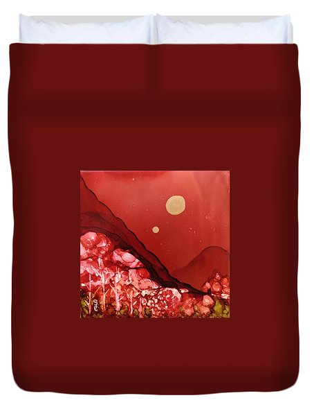 Santa Fe Moonrise Duvet Cover by Suzanne Canner