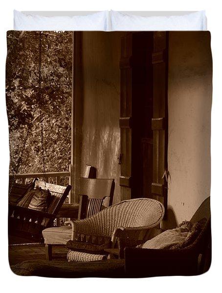 Santa Fe Porch Duvet Cover