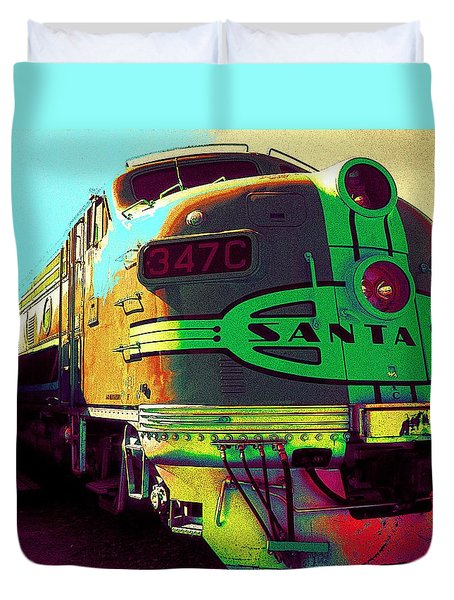 Santa Fe Railroad New Mexico Duvet Cover
