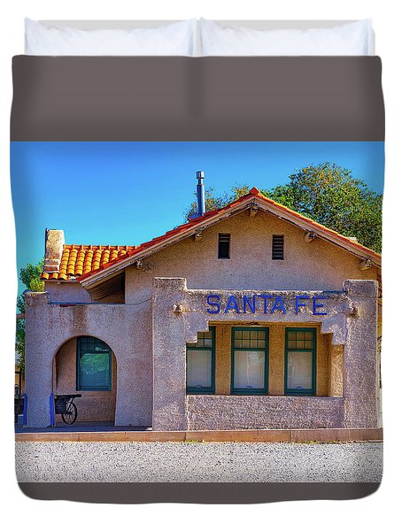 Duvet Cover featuring the photograph Santa Fe Station by Stephen Anderson