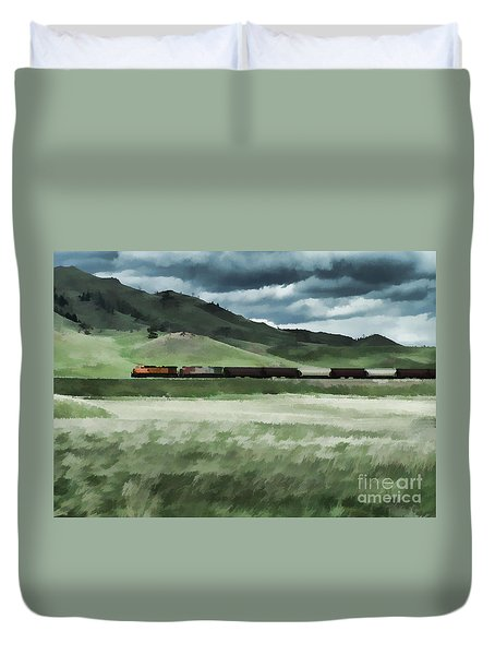 Santa Fe Train Duvet Cover by Erica Hanel