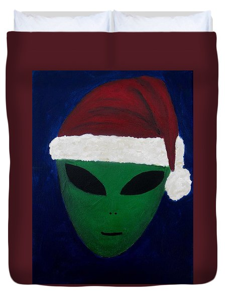Santa Hat Duvet Cover by Lola Connelly