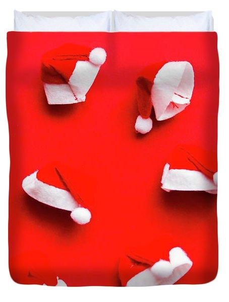 Santa Hat Party Duvet Cover