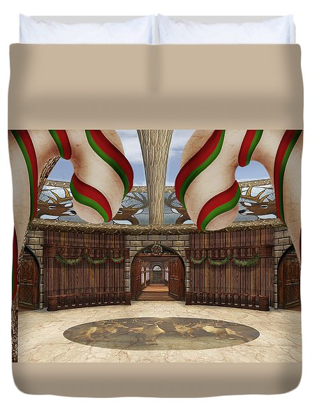 Santa House Duvet Cover