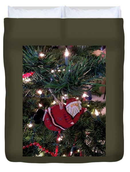 Santa Is Almost Here Duvet Cover