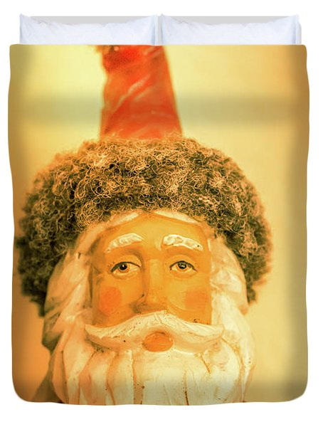 Santa Is Watching Duvet Cover