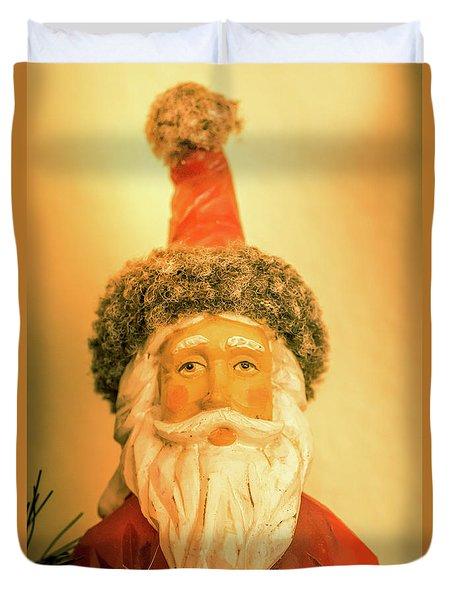 Santa Is Watching Duvet Cover