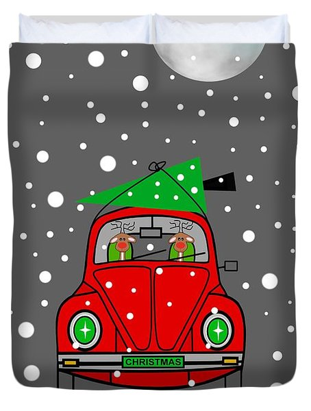 Santa Lane Duvet Cover