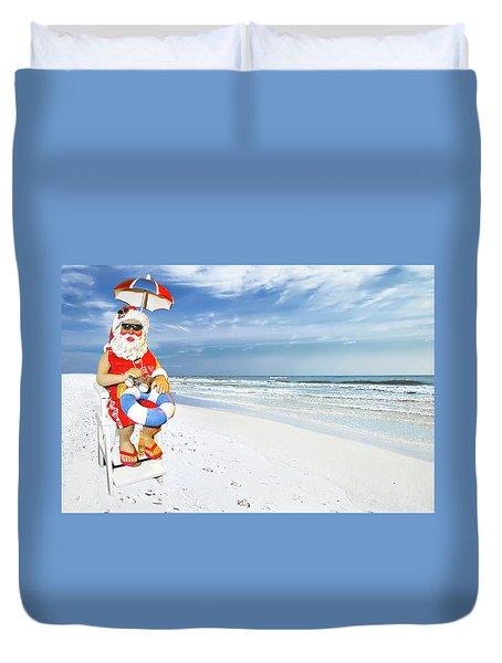 Santa Lifeguard Duvet Cover