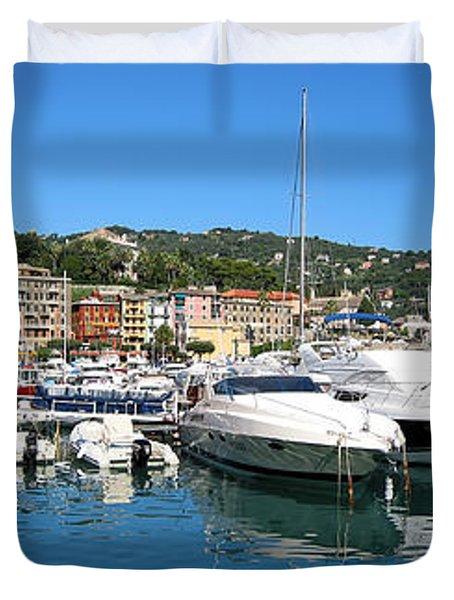 Santa Margherita Ligure Panoramic Duvet Cover by Adam Romanowicz