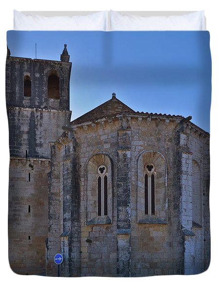 Santa Maria Do Carmo Church In Lourinha. Portugal Duvet Cover